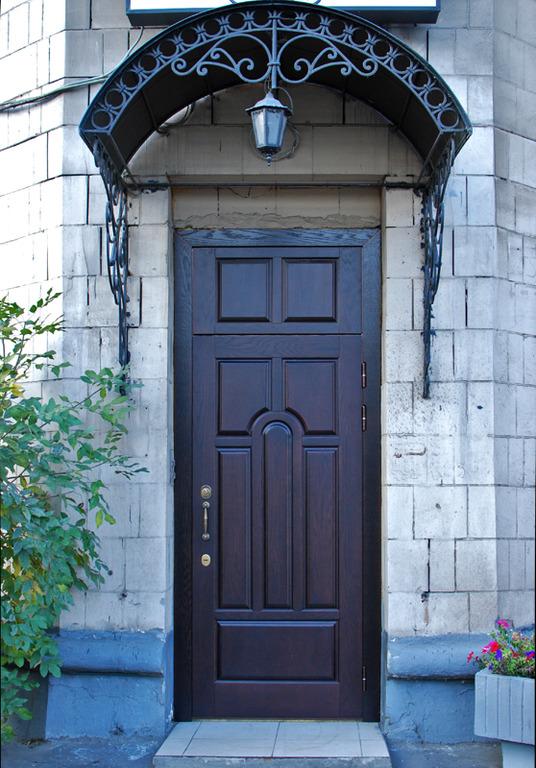 входная уличная дверь железная в частный дом